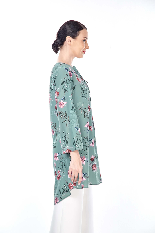 Salwa Mint Green Flower Tunic 3