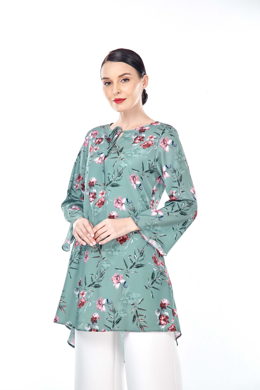 Salwa Mint Green Flower Tunic 5