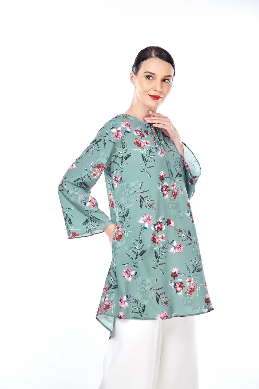 Salwa Mint Green Flower Tunic