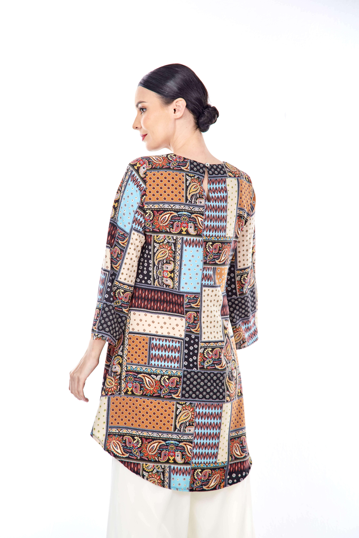 Talia Patchwork Printed Tunic (4)