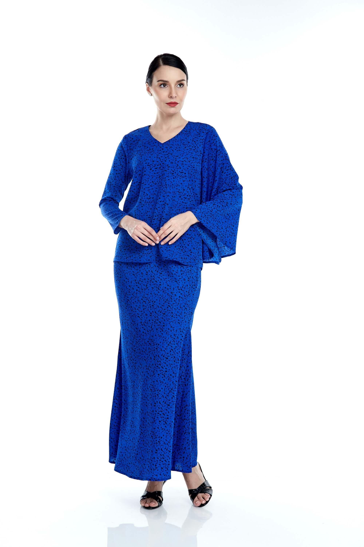 Tisha Royal Blue Spotted Blouse 2