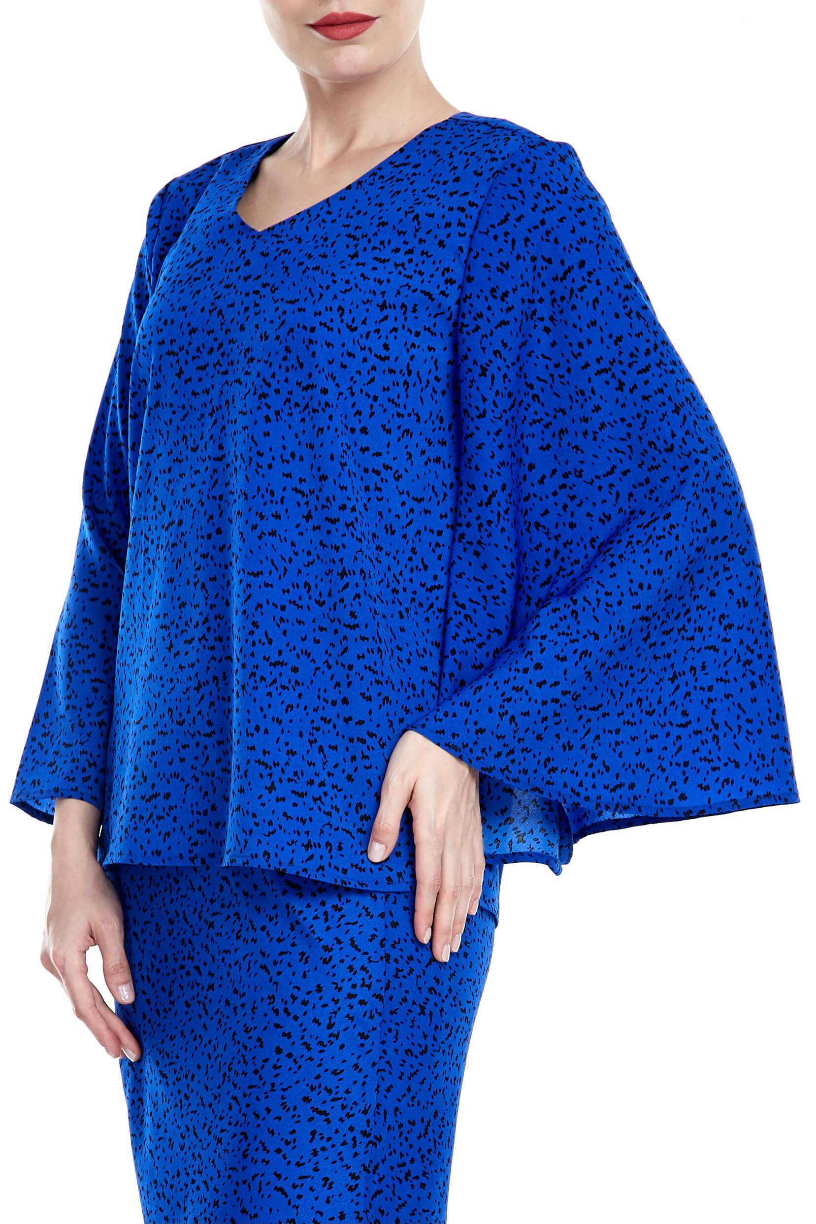 Tisha Royal Blue Spotted Blouse 3