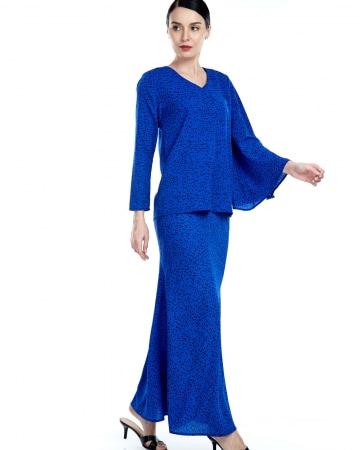 Tisha Royal Blue Spotted Blouse