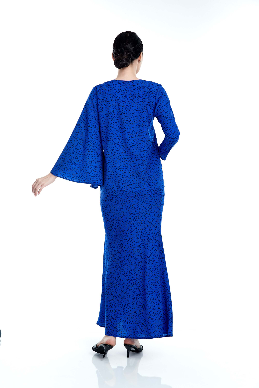Tisha Royal Blue Spotted Blouse 4