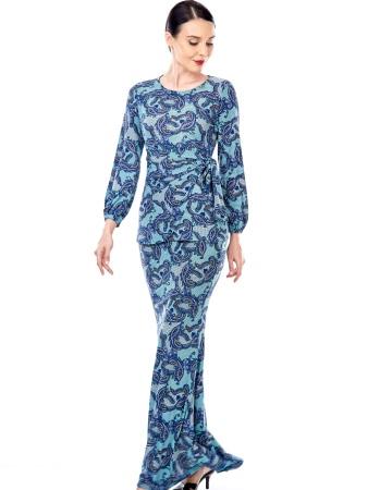 Wilda Turquoise Paisley Blouse
