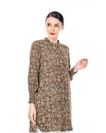 Xandra Brown Floral Tunic