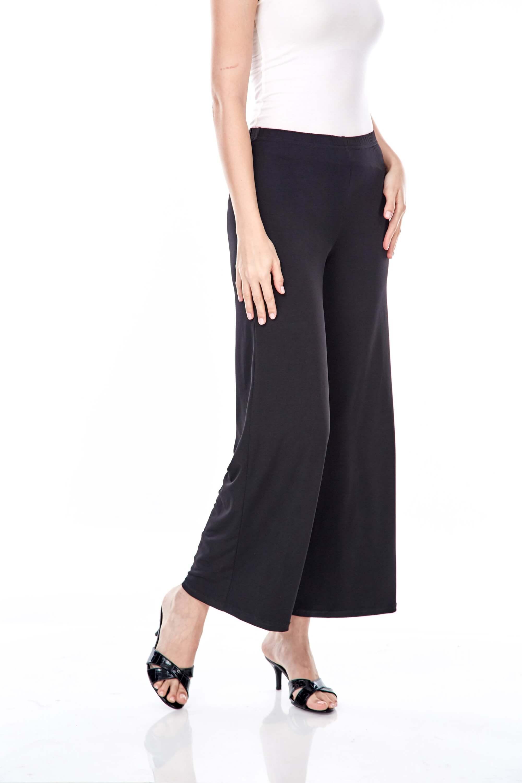 Yaina Black Wide Leg Pants 4