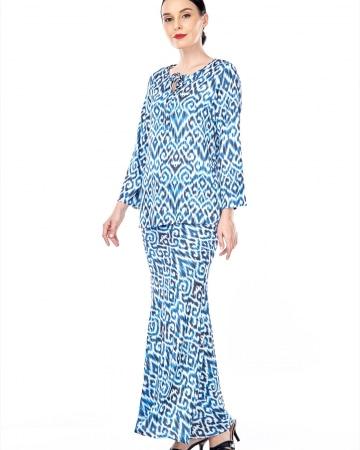 Yasmin Blue Printed Blouse