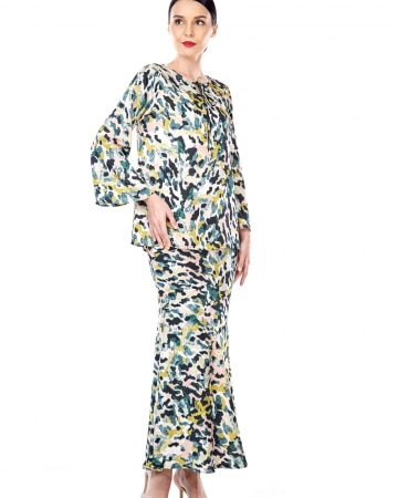 Yasmin Green Printed Blouse