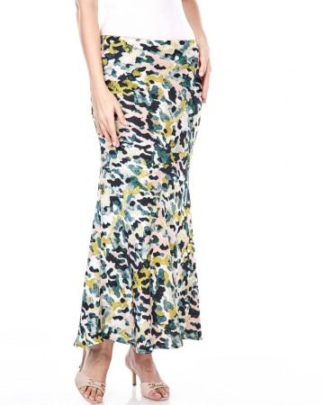Yasmin Green Printed Skirt