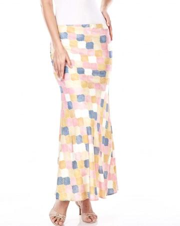 Yasmin Yellow Printed Skirt