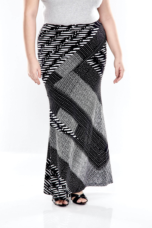 Black Printed Long Skirt 3