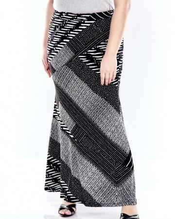 Black Printed Long Skirt