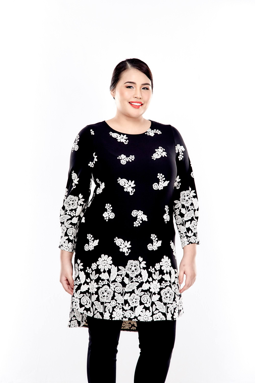 Black Printed Long Sleeve Blouse 4