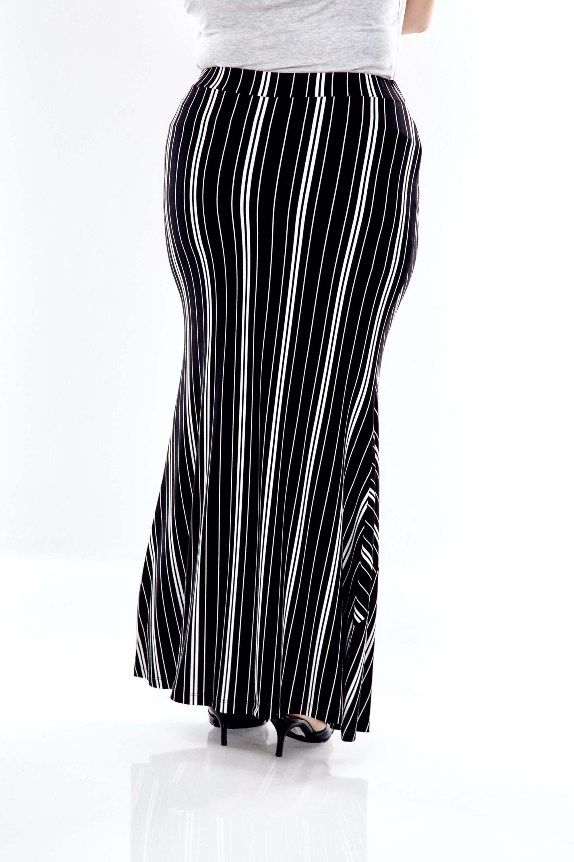 Black Striped Long Skirt 1