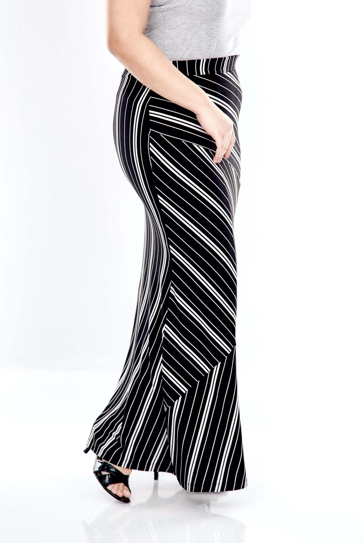 Black Striped Long Skirt 4