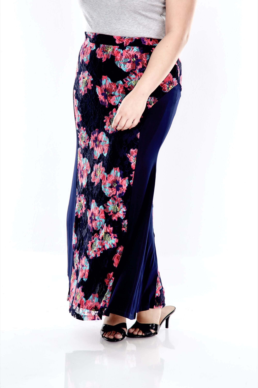 Blue Lace Long Skirt 3