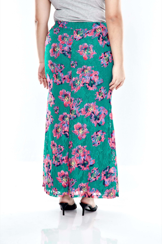 Green Lace Mermaid Skirt 2