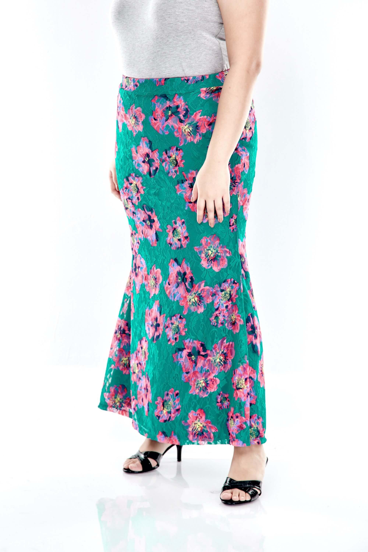 Green Lace Mermaid Skirt 3