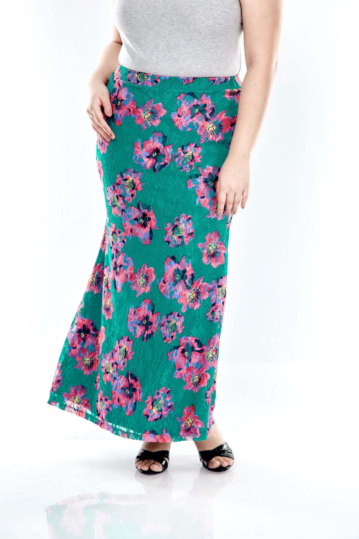 Green Lace Mermaid Skirt