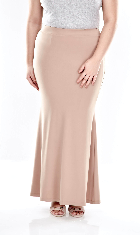 Khaki Long Skirt 1