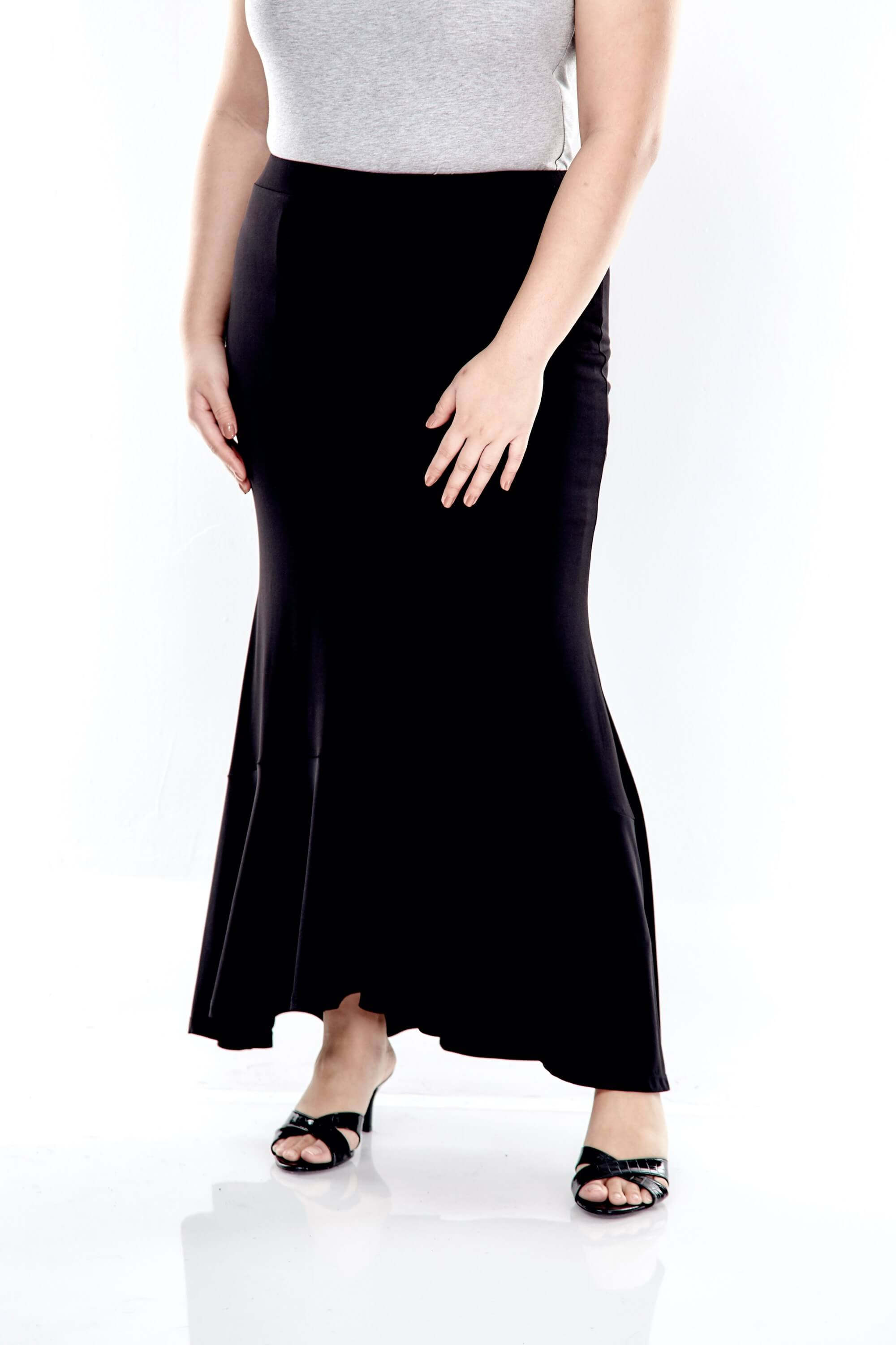 Long Skirt With Bottom Flares 3