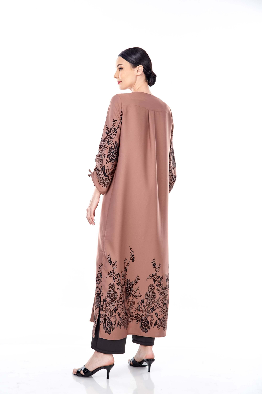 Marcella Cinnamon Border Dress 1