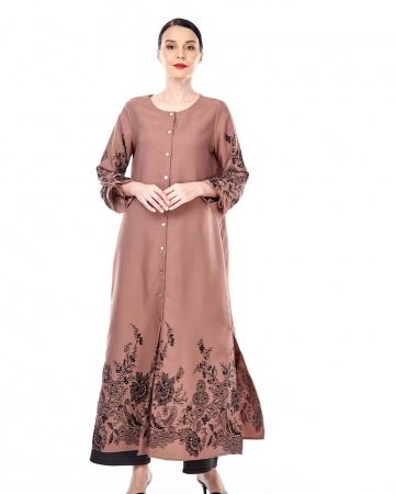 Marcella Cinnamon Border Dress
