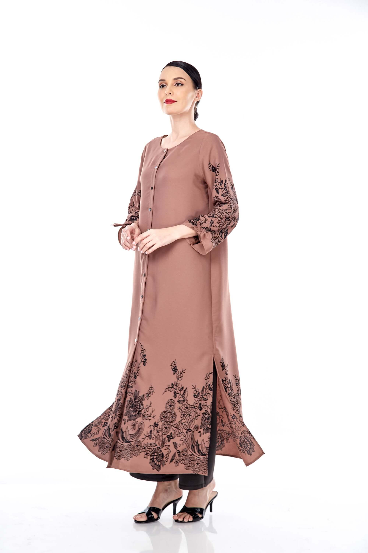 Marcella Cinnamon Border Dress 4