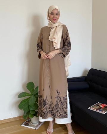 Marcella Coffea Border Dress