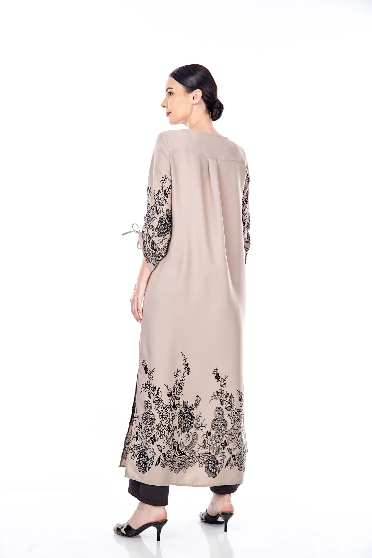 Marcella Sand Border Dress 1