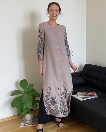 Marcella Sand Border Dress