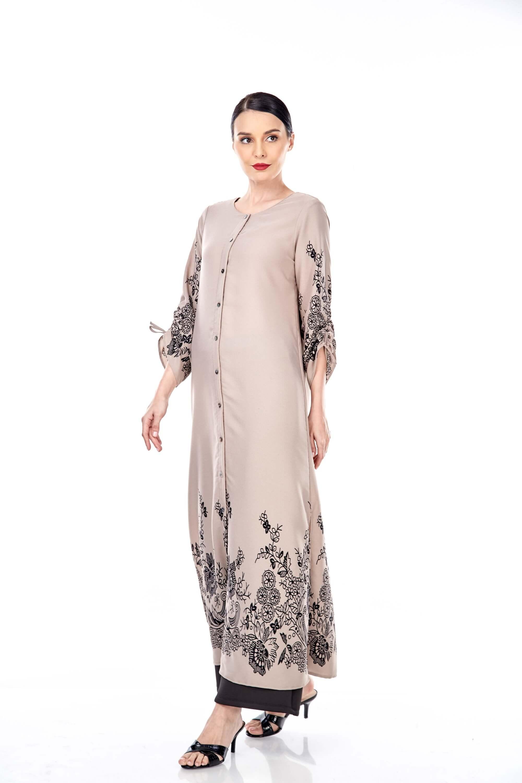 Marcella Sand Border Dress 4