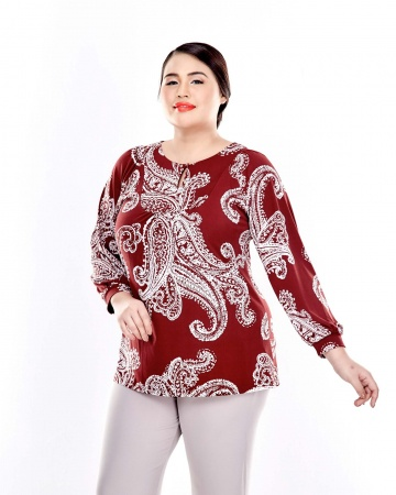 Maroon Printed With Front Keyhole