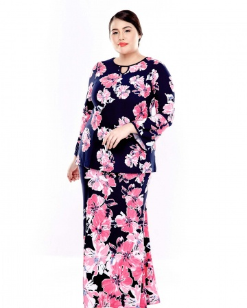 Pink Printed Blouse With Bell Sleeve