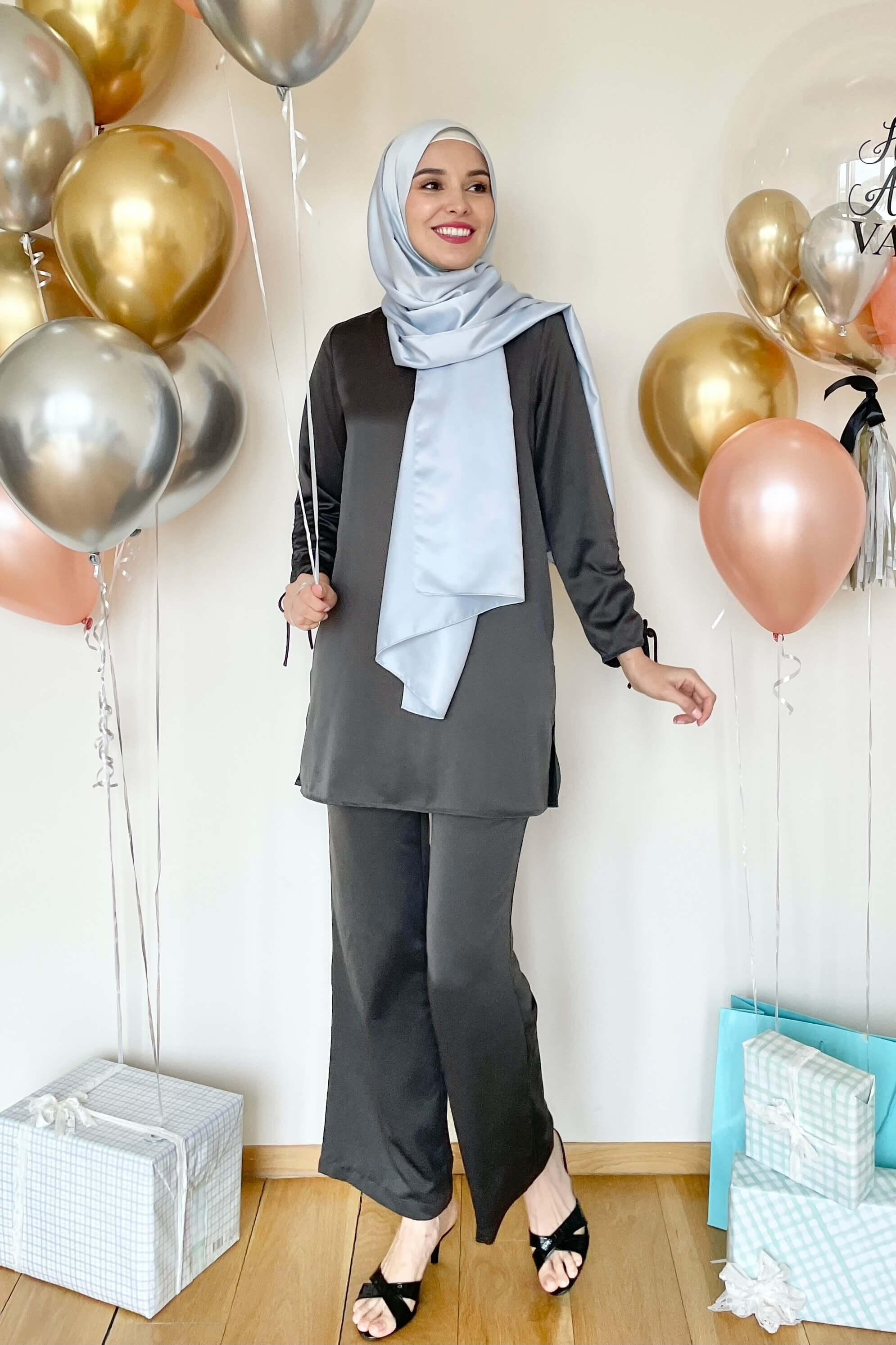 Rayqa Grey Blouse