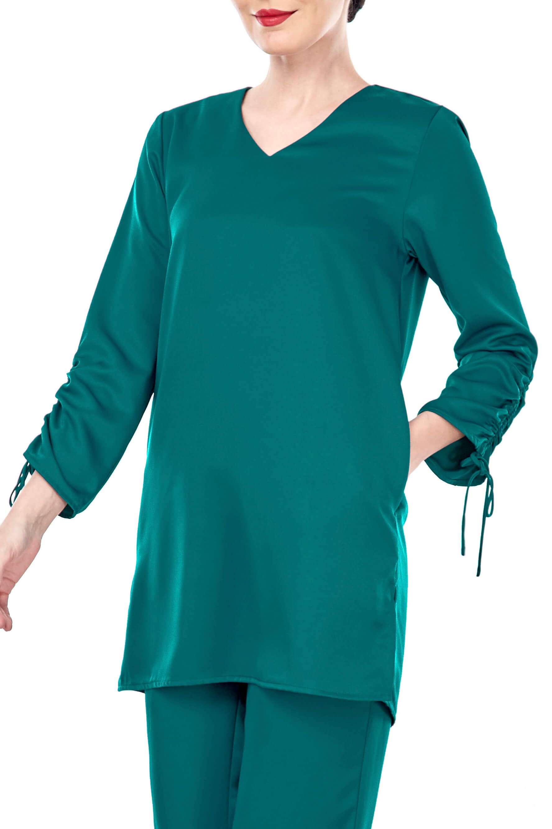 Rayqa Teal Blouse 3