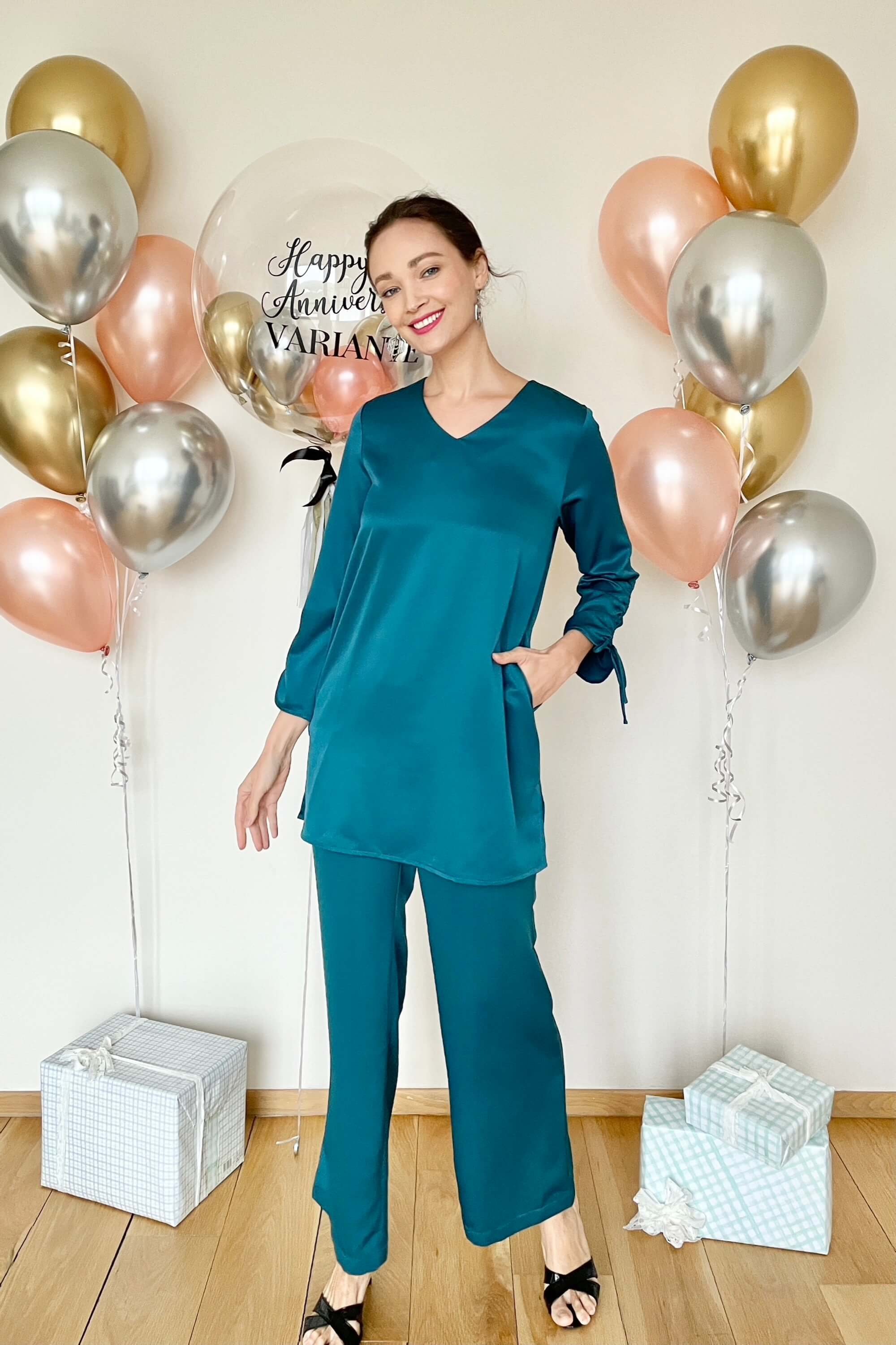 Rayqa Teal Blouse