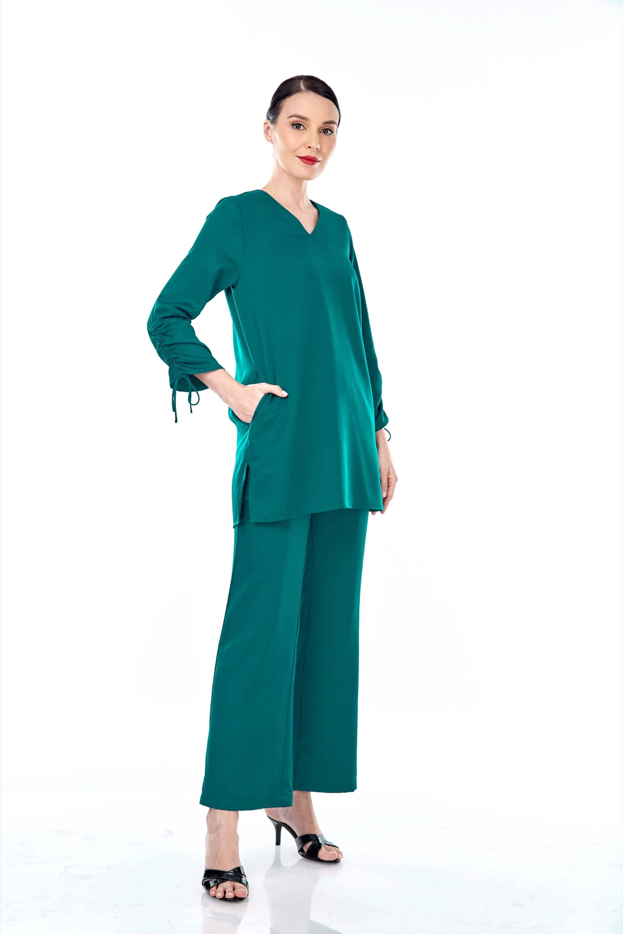 Rayqa Teal Blouse 5