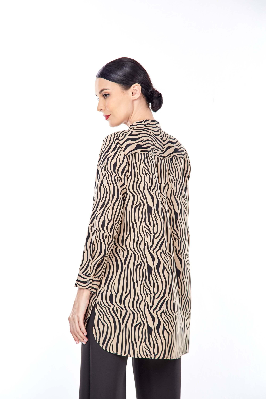 Rella Brown Animal Printed Tunic (3)