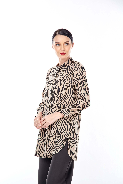 Rella Brown Animal Printed Tunic (4)
