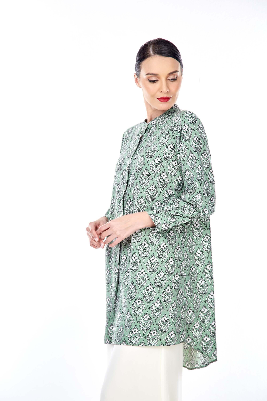 Sonia Fern Green Printed Tunic (1)