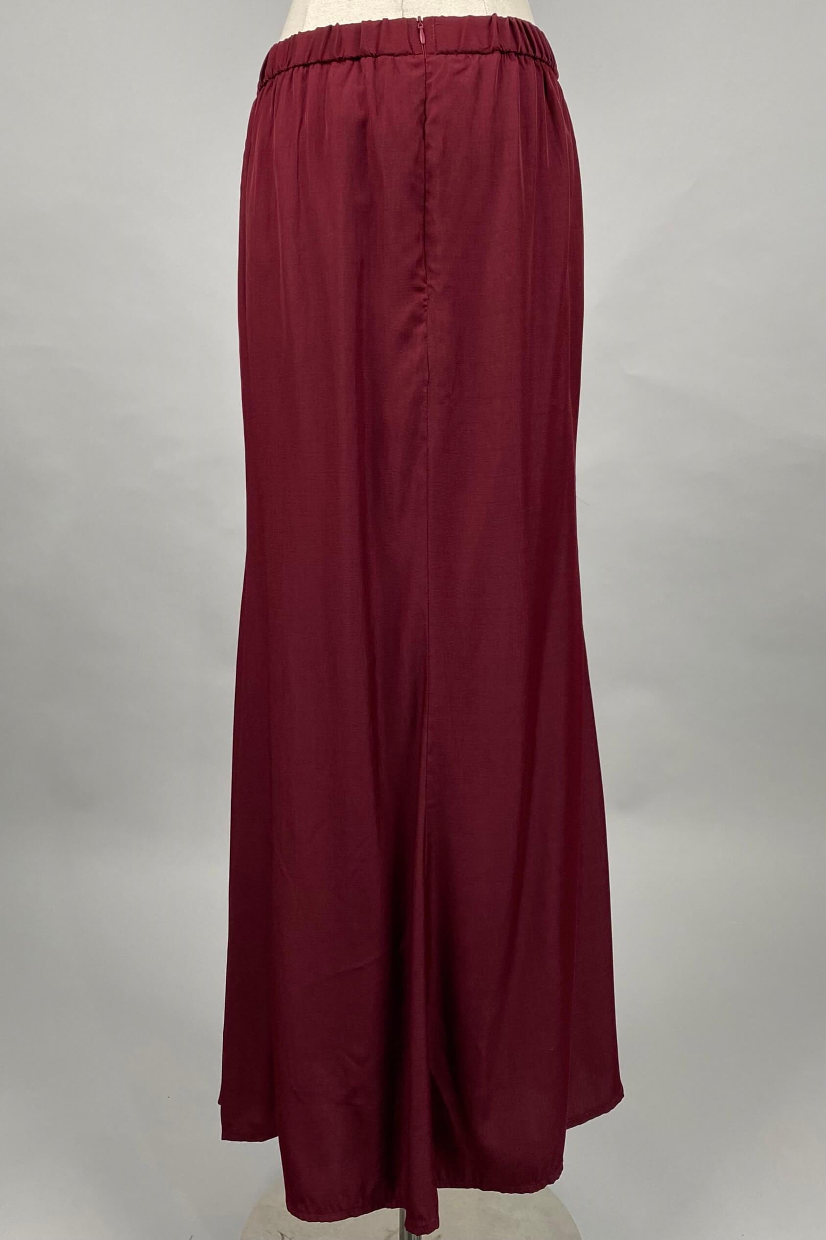Dark Maroon Skirt 4