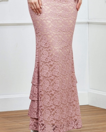 Dusty Pink Lace Skirt
