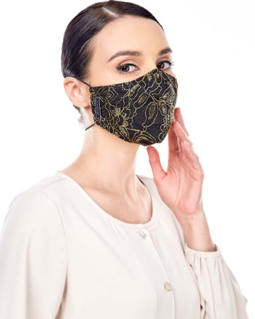 Gold Lace Mask