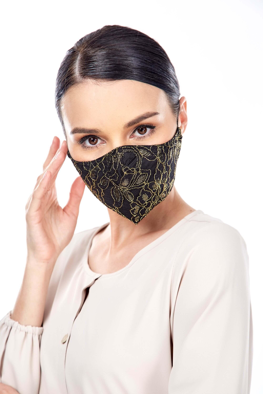 Gold Lace Mask 4