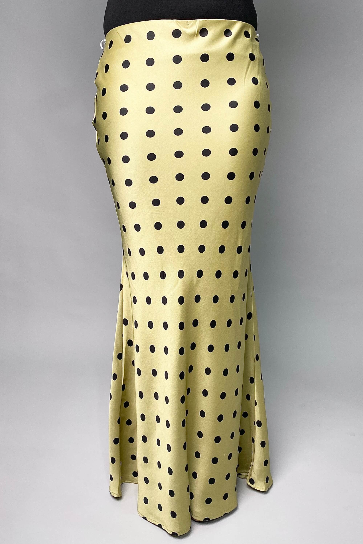 Polka Dot Green Skirt