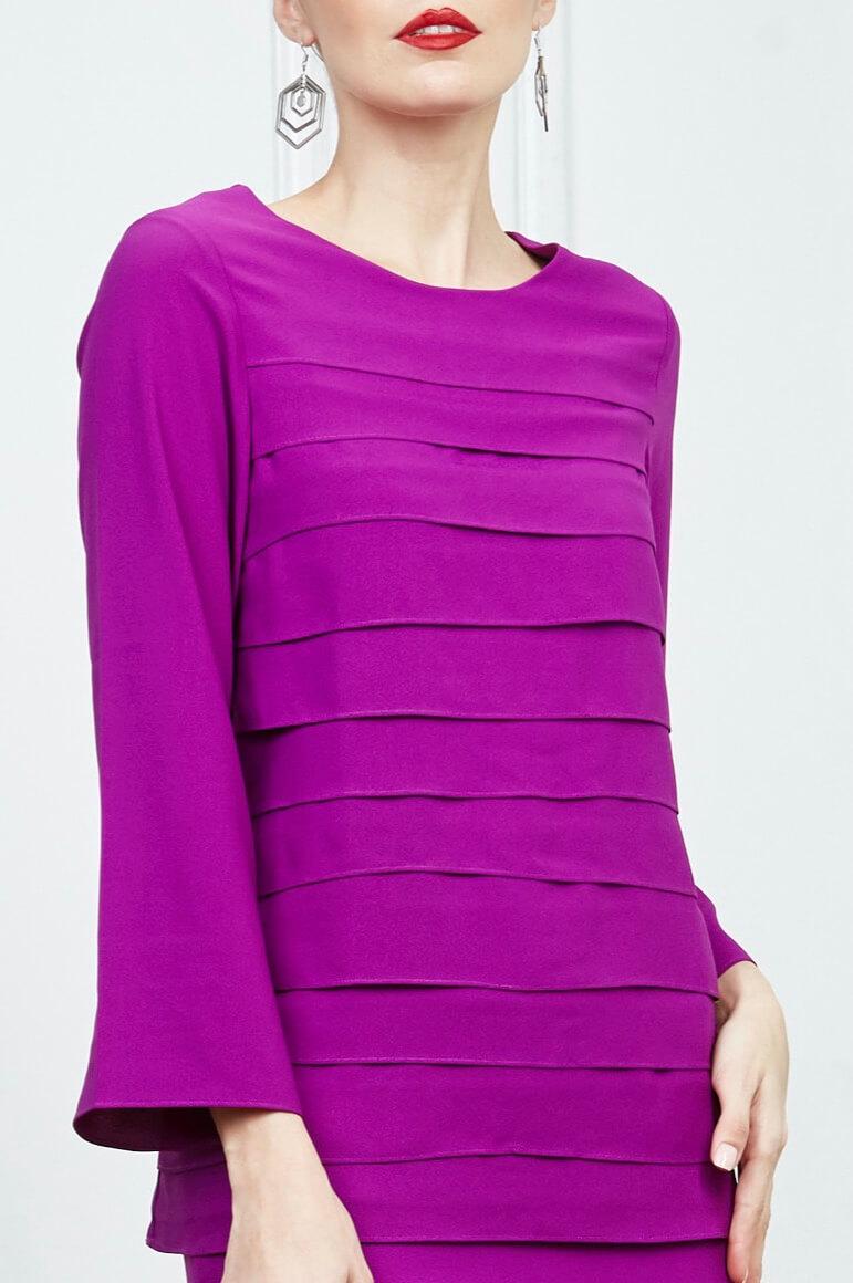 Purple Tier Blouse