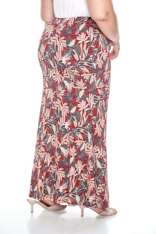 Maroon Printed Long Skirt 3