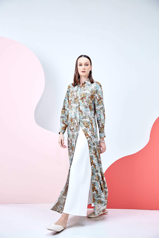 Kyrina Green Printed Dress 4